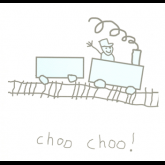 Baby Boy Choo Choo Card